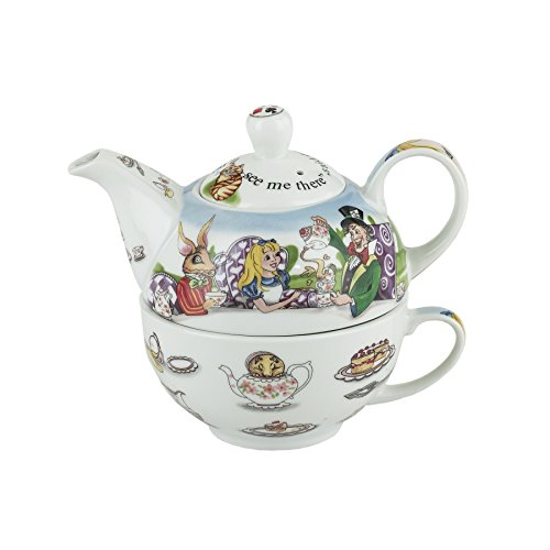 Cardew Design Alice in Wonderland Tea for One Tetera de 16 oz y taza de 10 oz
