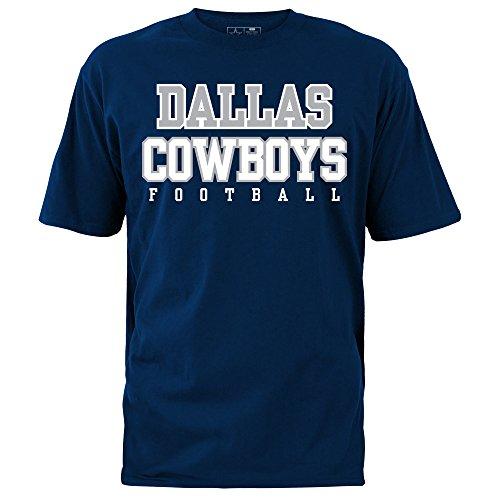 NFL Dallas Cowboys Herren T-Shirt, Herren, Dallas Cowboys, Navy, 3X