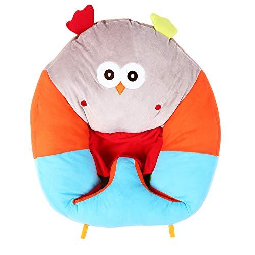 Muebles para niños, parte inferior antideslizante, no es fácil de plegar, sillón para niños pequeños, evita el vuelco de la espalda, absorbe el agua y el sudor para niñas,(owl)