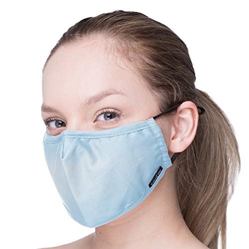 Anti Pollution Dust Cover Washable and Reusable Replaceable Filters- by Debrief Me-with Nose bridge-Anti Slip, Adjustable Straps Cover