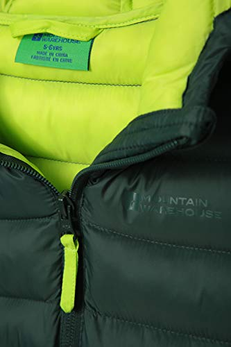 Mountain Warehouse Seasons Padded Kids Jacket - Water Resistant & Lightweight Insulated Rain Coat for Boys & Girls - Great for Autumn, Winter, School or Travelling Khaki 11-12 Years