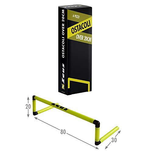 Packung 6Stück Hindernis Over 20cm in PVC Running Laufen Fußball Training Fitnessstudio Sport gelb Sky