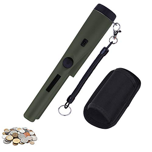 Xueliee Tragbar Metallsuchgerät,Metall PinPointer mit Alarm Licht/ 360° Scan/Holster für Goldmünze Hunt, Relikte, Schmuck