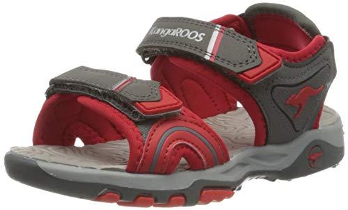 KangaROOS K-Track Unisex-Kinder Sneaker, Grau (Steel Grey/Red 2015), 38 EU
