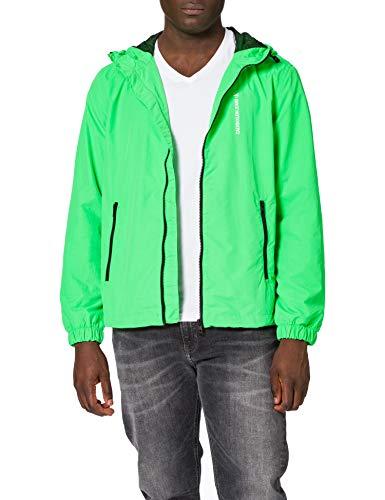 Calvin Klein Jeans CK Vertical Logo Windbreaker Cortavientos, tucán andino, M para Hombre
