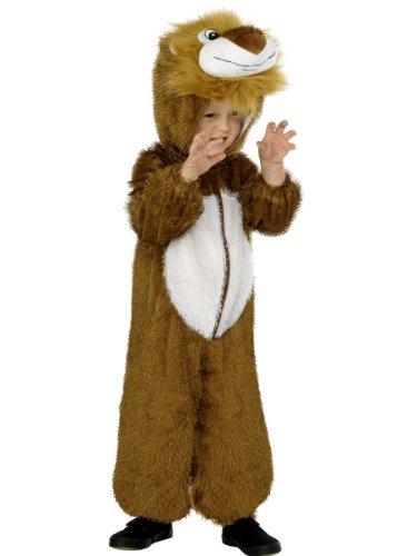 Smiffys Costume de lion, marron, comprend combinaison pantalon avec capuche