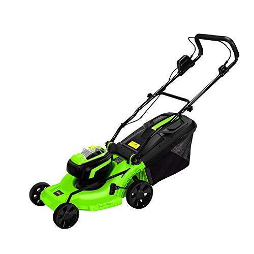 DENGS 1400 W Cortasetos Cortacésped, ajuste de seis velocidades, hoja de acero al manganeso, caja recolectora de césped desmontable de 40 l/Verde / 1400W