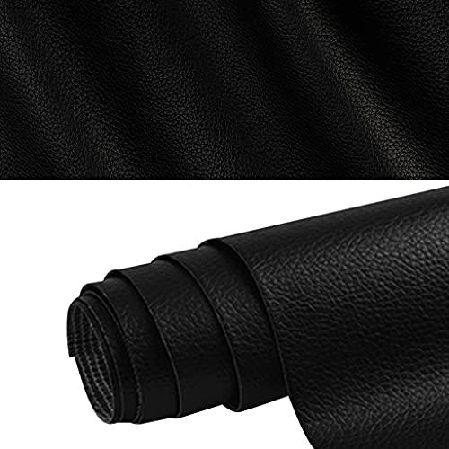 gudong Patch de Réparation en Cuir, Un Rouleau de Patch en Cuir Auto-adhésif, Réparation Kit Premiers Soins pour Canapé de Siège de Voiture Meubles Vestes Sac À Main 42 x 137cm Noir