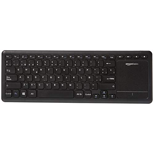 Amazon Basics - Teclado inalámbrico con Touchpad para televisión Smart TV - formato español (QWERTY)