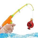 PPuujia Caña de Pescar Infantiles 39 unids/Set Inflaje Infantil para niños Pesca magnética de Pesca Rodilla Net NIÑOS Modelo de niño Play Juegos de Pesca Juguetes al Aire Libre (Color : Multicolor)