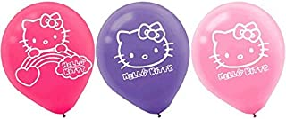 Amscan 111417 BLLN LTX HELLO KITTY RAINBOW, 6-Count, Printed Balloons