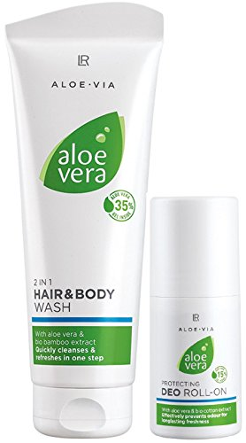 LR ALOE VIA Aloe Vera Sport-Set (250 ml Haar- und Körper-Shampoo und 50 ml Deo Roll-on)