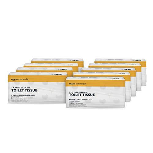 AmazonCommercial – Toilettenpapier, 3-lagig, hochwertig, 72 Rollen