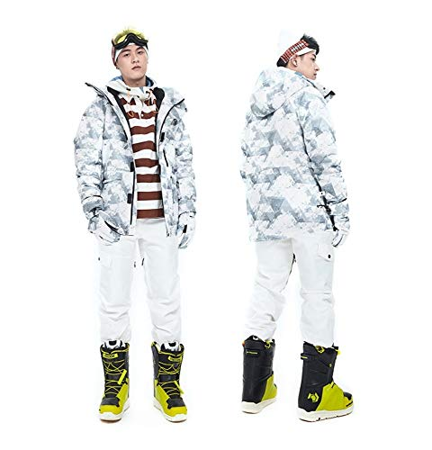 WLD skipak voor dames, Koreaans, dik, warm, ademend, waterdicht, dubbellaags, M uitrusting, geschikt voor dagelijks outdoor-skibroek. Large K