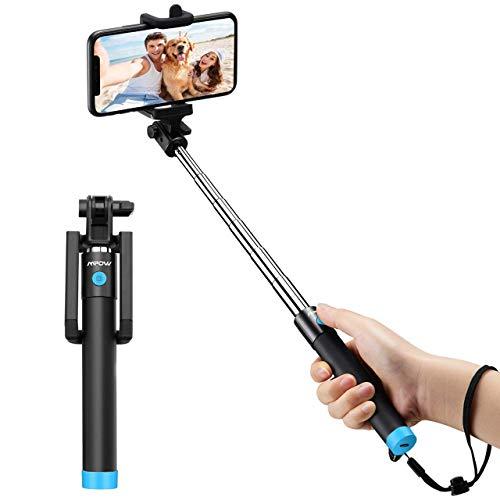 Mpow Palo Selfie Movil, Selfie Stick Bluetooth Diseño ligero, inalámbrico...