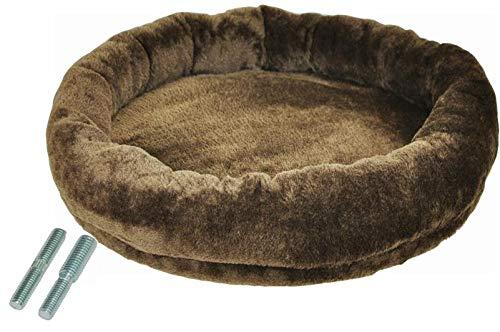 nanook - Liegeplatz, Liegemulde XL - Liegefläche Ø 53 cm - für große Katzen geeignet - für M8 M10 Kratzbäume und Sisalstämme - inkl. Adapterschraube - Farbe: braun