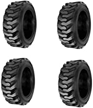 (4-Tires) HORSESHOE 12-16.5 14 PLY Skid Steer Loader Tubeless Tire w/Rim-Guard Heavy Duty G Load 12x16.5 NHS SKS1 L2/G2 T168