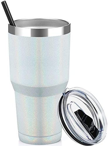 ALOUFEA 30oz Stainless Steel Tumbler Insulated Coffee Tumbler Cup with Lid and Straw Double product image