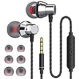 JUKSTG Auriculares In Ear, Auriculares con Cable y Micrófono de Alta Sensibilidad, Control de Volume...