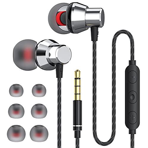 JUKSTG Auriculares In Ear, Auriculares con Cable y Micrófono de Alta Sensibilidad, Control de Volumen y Sonido Puro, Compatibles con los Dispositivos con Conector para Auriculares de 3,5 mm