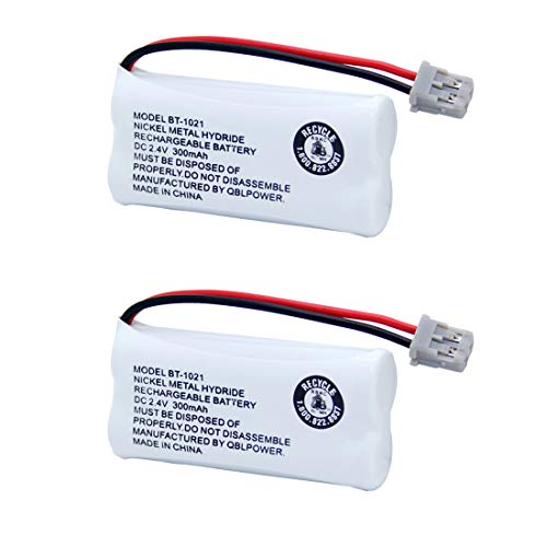 BT-1021 Rechargeable Battery Replacement Compatible with Uniden BT1021 BBTG0798001 BT-1008 BT-1016 Cordless Handset Phone (2 Pack BT1021 Batteries)