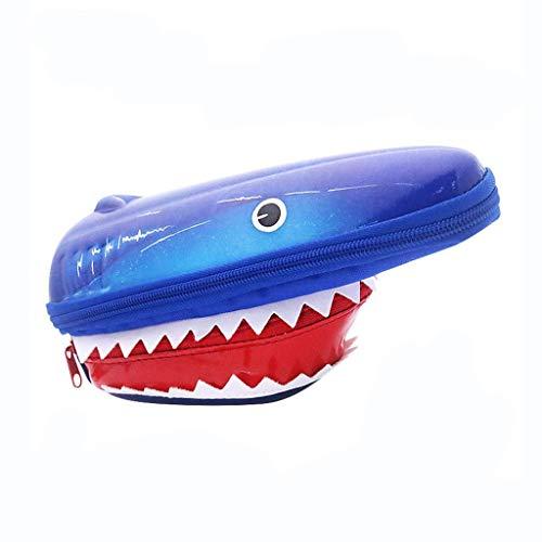 DWQ Estuche para lápices Shark Bolso Creativo para bolígrafos con Bloqueo de código, Caja de Almacenamiento de papelería con Borrador de lápiz para niño (Color : Color Blue)