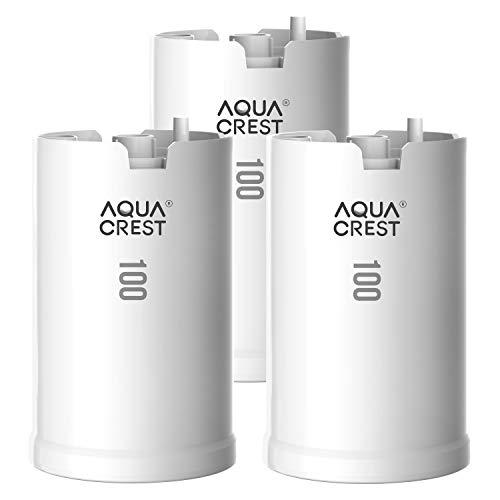 AQUACREST WFFMC103X Faucet Water Filter, Compatible with DuPont FMC103X, WFFMC100X Faucet Mount Water Filtration Cartridge, 100-Gallon (Pack of 3)