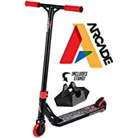 Arcade Patinete Pro Scooters Freestyle - Patinetes Freestyle - Stunt Scooter - Patinetes de Acrobacias (Black Red/Negro Rojo)