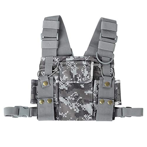 Radio Chest Front Pack, holster draagtas voor UV-5R / UV-82 / BF-888S / GT-3 verstelbare holster vest rig voor radio walkie talkie politie productie workshop