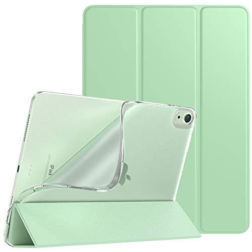 iPad air4 ケース 2020 10.9インチ TiMOVO iPad Air 第4世代 カバー TPU オートスリープ機能 第二世代 Pencil ワイヤレス充電対応 全面保護 PUレーザー 三つ折り スタンド マグネット 耐衝撃 軽量手帳型 グリーン