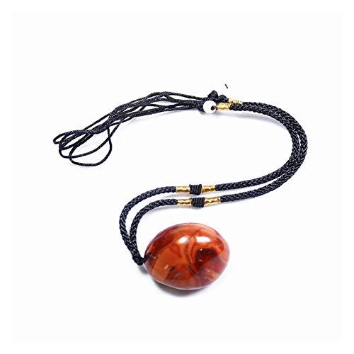 Sygjal Cristal Natural Cuarzo de Piedra cruda ágata Rojo Colgante de Piedra Pulido Collar Ornamento Regalo de la Madre Piedra