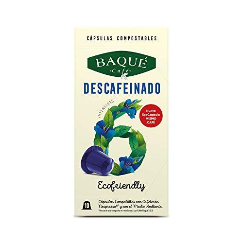 Cafés Baqué 120 Capsulas Compatibles Nespresso Descafeinad
