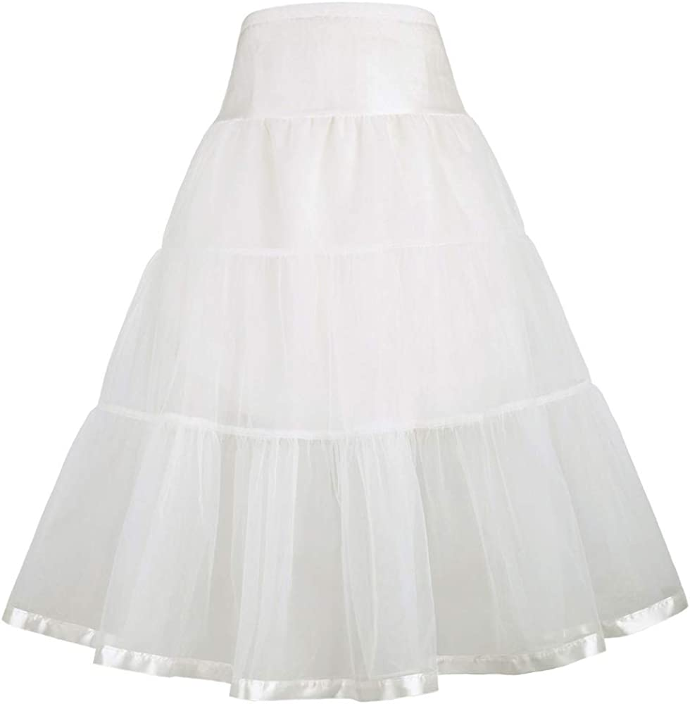 GRACE KARIN Little Girl Voile Crinoline Tutu Petticoats(Long/Short)