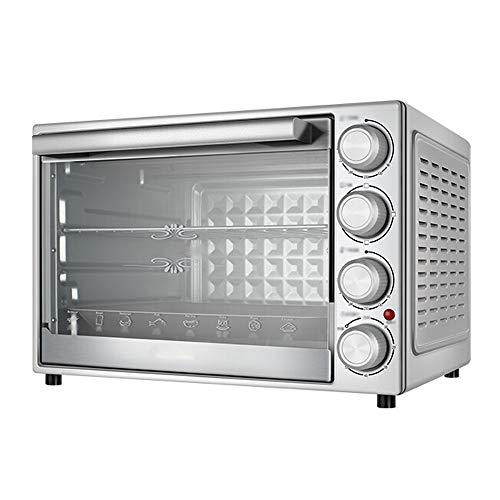 Küche Mini Backofen MinihauptEndoscope Ofen, Temperaturregelung (90-230 ° C) große Kapazitäts-40L, Innere Rotation Button Control, Einbauschränke Explosionsgeschützte Lampe, Silber (475 * 358 * 330mm)