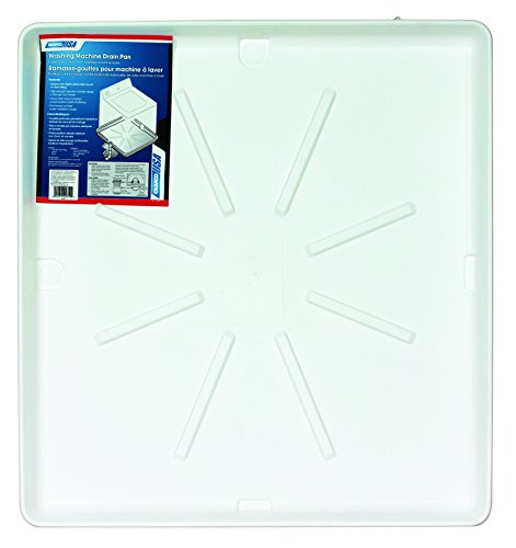 Camco 20751 32' x 30' Washing Machine Drain Pan with PVC Fitting - Protect Your Floor From Washing Machine Leaks, White