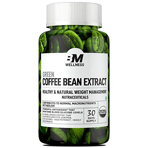 Bigmuscles Nutrition Green Coffee Bean Extract (1000mg)   30 Days Supply   Weight Loss Supplement   Powerful Natural Antioxidant   Appetite Suppressant   Metabolism Booster   Keto Friendly  Maintain Blood Sugar level