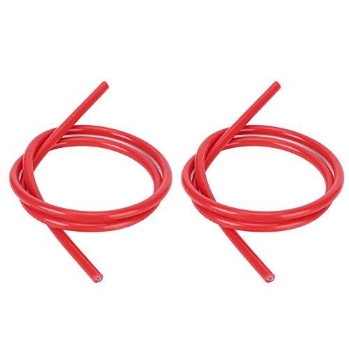 Cable de encendido confiable de alta resistencia profesional 2 piezas azul negro rojo para coche(red)