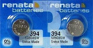 2 Pcs 394 Renata Silver Oxide 0% Mercury Electronic Batteries SR936SW