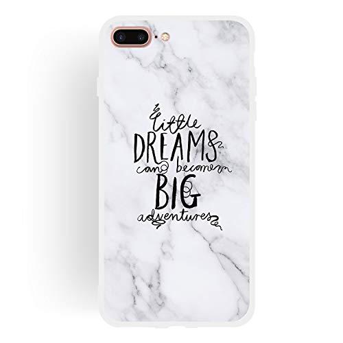 Yobby Marmo Cover per iPhone 7 Plus/8 Plus,Ultra Sottile Antiurto AntiGraffio Opaca Morbida Flessibile TPU Gomma Silicone Protettiva Skin Cover per iPhone 7 Plus/8 Plus-Sognare