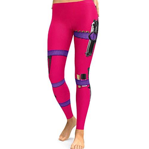 YCQUE Damen 3/4 Yoga Leggings Hose, Damen Pront Gamaschen Fitness Sport Laufen Yoga | Sportliche Hose | Freizeit Hohe Taille Hose Elastische Sport Training Workout Sporthose Yogahose