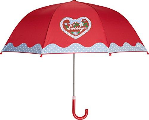 Playshoes Mädchen Kinder Landhaus, Oktoberfest Regenschirm, Rot (rot 8), (Herstellergröße: one size)