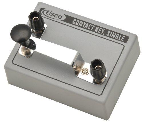 Eisco Labs - Teclas de contacto, para telégrafo de código morse, sencillo