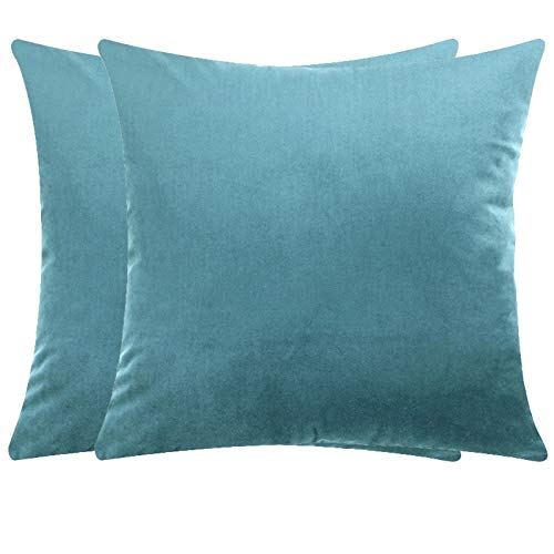 JONJUMP 2 fundas de cojín de terciopelo para el hogar, fundas de almohada decorativas para sofá