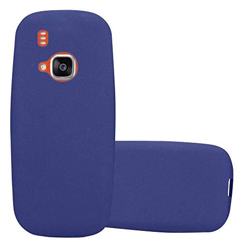 Cadorabo Hülle für Nokia 3310 in Frost DUNKEL BLAU - Handyhülle aus flexiblem TPU Silikon - Silikonhülle Schutzhülle Ultra Slim Soft Back Cover Hülle Bumper