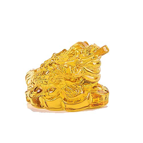 ZenBless Fengshui Crystal Three Legged Toad Bring Money Frog Wealth Frog Figure Home Decoration
