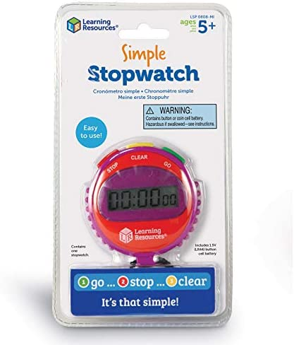 Learning Resources Simple Stopwatch Multicolor product image