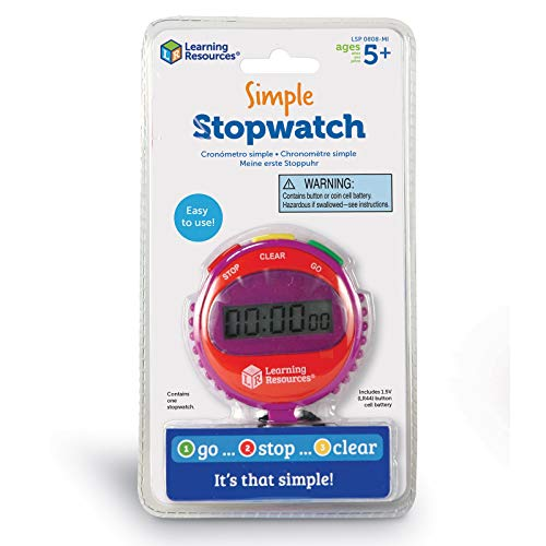 Learning Resources Simple Stopwatch, Multicolor