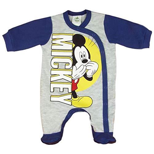 Mickey Mouse Disney Baby-Strampler Baby-Schlafanzug für Jungen Wickel-Strampler in Größe 56 62 68 74 Baumwolle für Neugeborene 0 3 6 9 Monate Farbe Modell 1, Größe 68