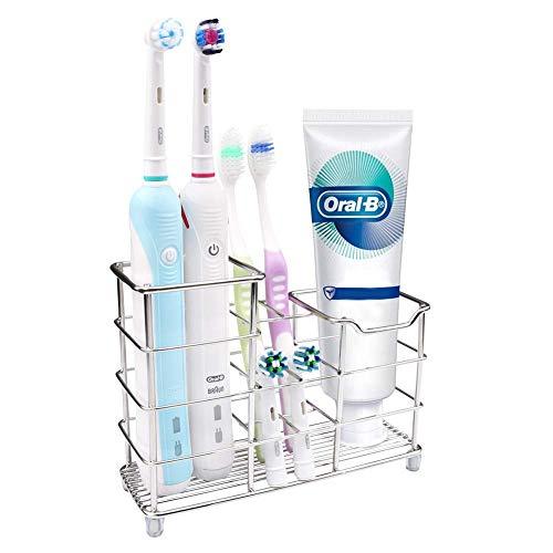 Wimaha Zahnbürstenhalter Zahnpastahalter alle 304 Edelstahl, Multifunktionaler vertikaler Zahnbürsten Halterung
