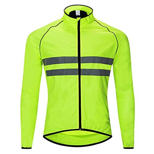 Chaqueta de ciclismo para hombre, camiseta ligera antiUV, cortavientos para bicicleta a prueba de viento, abrigo de alta visibilidad a prueba de agua, ropa deportiva al aire libre, C, M